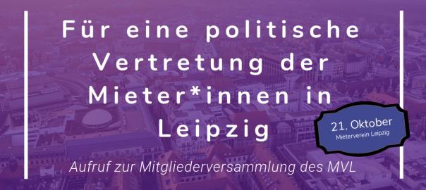 Pressemitteilung: Für eine politische Vertretung der Mieter*innen in Leipzig